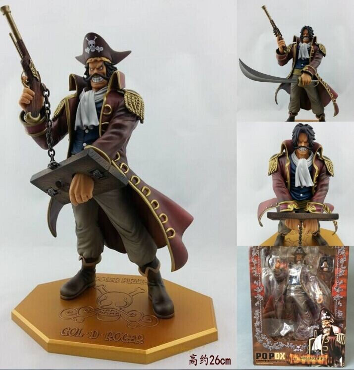 Free Shipping 10 One Piece the Pirate King Gol D Roger Gold Roger POP P.O.P Boxed 26cm PVC Action Figure Collection Model Toy<br><br>Aliexpress