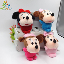 20pcs Lovely Mickey Mouse And Minnie Mouse Plush Toys 10CM Stuffed Cartoon Anime Dolls Children Baby Stuffed Toys For Kids toys(China)