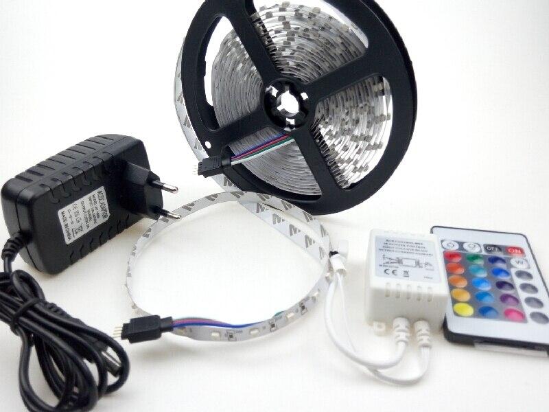 5m rgb led strip light 300led 12 volt 60ledsm 24