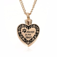 Vintage Urn Pendant Necklaces Shellhard Cremation Ash Holder Mini Keepsake Chain Neckalce For Women Men Jewelry Rose Gold Color(China)