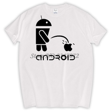 Fashion Men T Shirts Android Robot Male t-shirt apple humor logo printed funny t shirt short sleeve Round Neck Ringer Tees