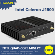 Fanless Intel J1900 Mini PC NUC Windows 10 Desktop Computer Pocket PC barebone system Celeron Quad-Core HD Graphics 300M WiFi