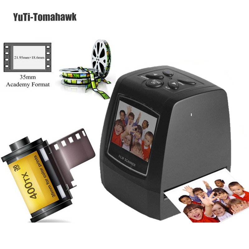 High Quality Portable 2.36inch USB 2.0 5MP LCD Screen 35mm High Resolution Negative Film Scanner