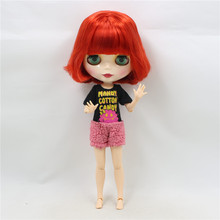NO.1248 Factory NEO blythe joint doll Red Hair offer toy gift special price on sale suitable makeup in yourself