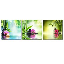 3 Panels Contemporary Zen Stone Landscape Artwork Giclee Canvas Prints on Canvas Wall art Modern Wall Decor