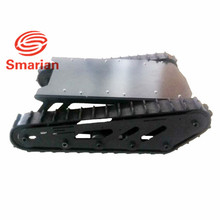 smarian Metal Tank Chassis with Rubber track Crawler Belt Tracked Vehicle Excavator Robot Chassis Remote Control DIY RC Toy load