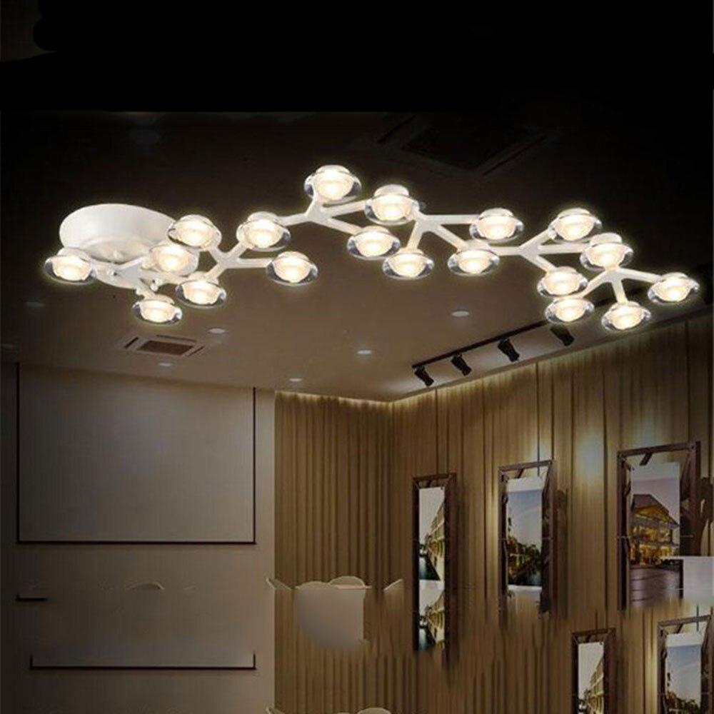 AC100-240V White LED Ceiling lights Modern Art Design tree branch lamparas de techo lustres de teto luminaria lamp light fixture<br><br>Aliexpress