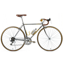 Retro road Bicycle Fixed Gear Bike DIY Complete British Style 14 speed Road Bike gentleman, Retro plating frame 52CM(China)