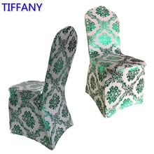 Tiffany colour print chair cover pattern lycra chair cover for wedding party decoration cheap price spandex fit all chairs