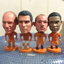 Soccerwe 2017 Season 2.55 Inches Height Football Player Dolls Netherlands Sneijder Depay Robben Figure Orange for Hot Sales