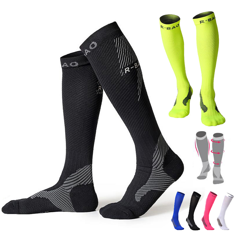 1 Pair Unisex Compression Socks Knee High Stockings Running Gym Comfy Scoks New