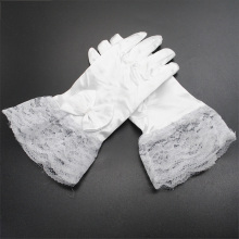 kids gloves Costume Accessories Children Girls White Lace Gloves Gloves for performing dress Free Size