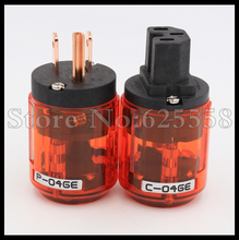 Audio Hifi Oyaide P-046E + C-046E IEC Connector Pure Copper  US Power Plug &  for DIY Power Cable extension adapter