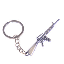 1Pc  bronze tone keychain gun design key chain with free shipping