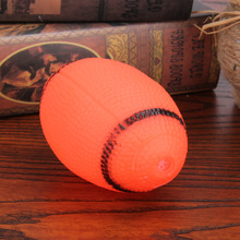 1PC Soft Rubber Squeaky Toys For Pet Dogs Chew Sound Small Squeaky Rugby Ball Dog Training Ball Toy
