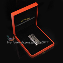 FS3-004 Made In HongHong FS DURONT Flower of Wealth Pure Copper Vintage Luxury Cigarette Batune Gas Lighter