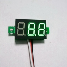 10PCS/LOT Green LED DC 0-100V Digital Voltmeter Car Motor Motorcycle Battery Monitor DC Volt Voltage Panel Meter Free Shipping