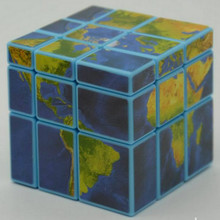 "Hot Selling  Magic Cubes Educational Toy IQ Brain Teaser Speed Training   As Gifts Beatiful Map Cube Good for Children""s Brain"