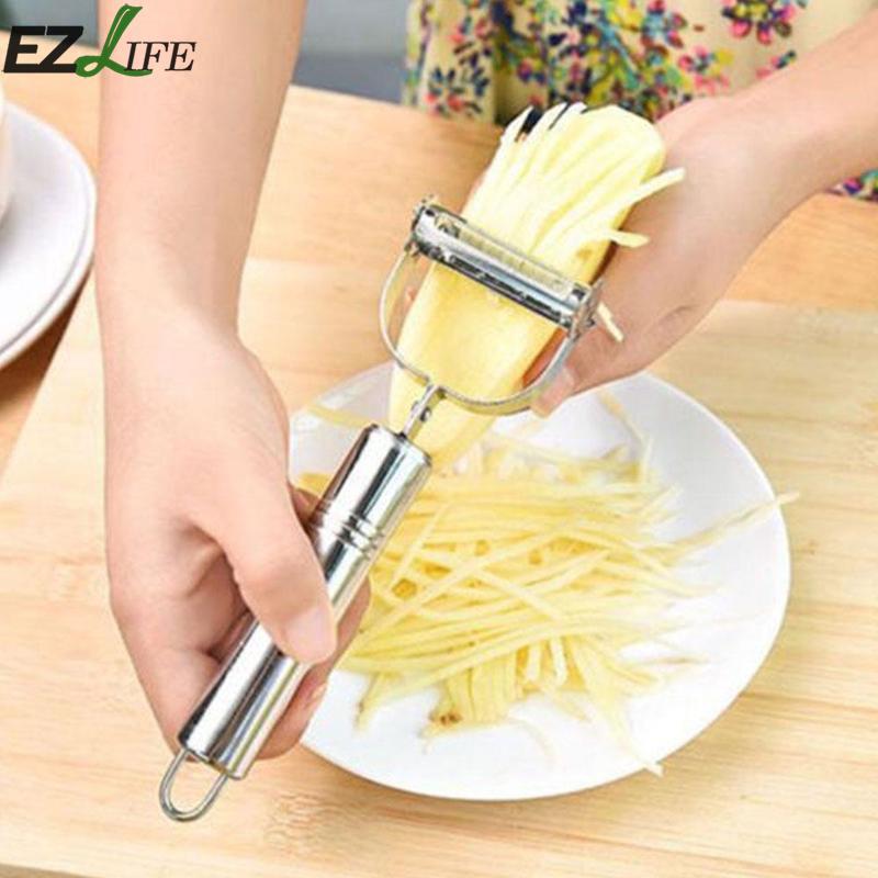 Stainless Steel Potato Peeler Fruit Carrot Vegetable Slicer Cutter Grater SN