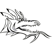 16cm*10.7cm Animal Dragon Head Personality Vinyl Car Sticker Motorcycle Decals Black/Silver S6-3019(China)