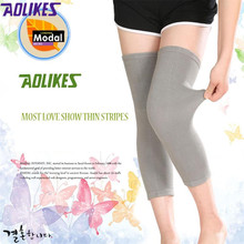 AOLIKES 1 Pair Modal Knee Pads For Volleyball Elastic Breathable Basketball Kneepads Sports Knee Support Brace M L 2 colors(China)