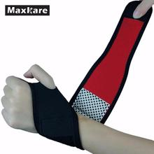 Maxkare Black Unisex Adjustable Wrist Guard Band Brace Support Carpal Tunnel Sports Pain Relief Wrap Bandage(China)