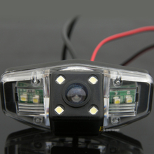 Waterproof 0Lux/ 4 LED Car Rear view Camera BackUp Reverse Parking Camera for HONDA Accord 2001-2010 Car  reverse camera 8010LED