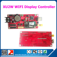 kaler WIFI nUSB display control card support P10 led display message board single color moving text display controller card XU2W(China)