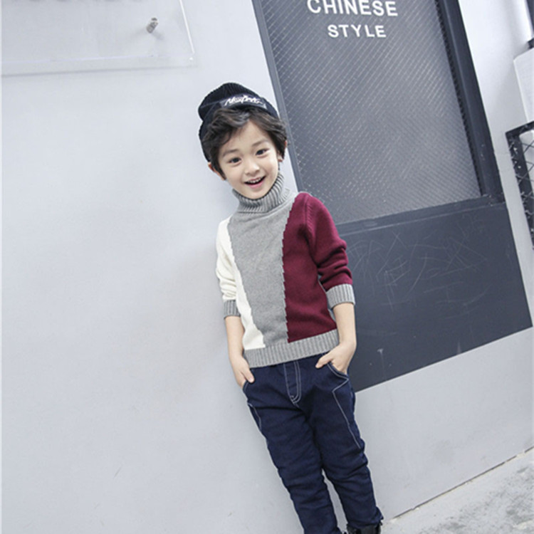 Hot Sales Autumn and Winter 100% Cotton Boys Pullover Sweater Basic Turtleneck Shirt Child Knitted Sweater for Kids 3-8Years<br><br>Aliexpress
