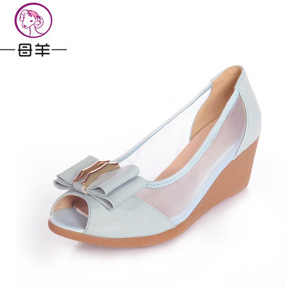 MUYANG Chinese Brand 2017 Summer Shoes Woman Genuine Leather Wedge Platform Sandals Womens Open Toe Wedges Women Sandals<br><br>Aliexpress