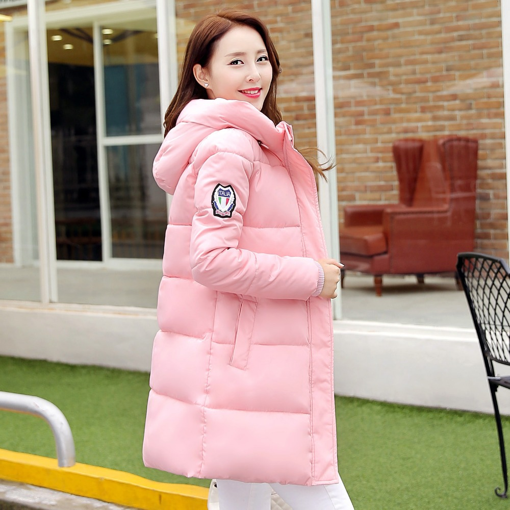 New Fashion Long Winter Jacket Women Slim Female Coat Thicken Parka Down Cotton Clothing Red Clothing Hooded StudentОдежда и ак�е��уары<br><br><br>Aliexpress