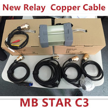 2017 A+++ quality MB STAR C3 without mb c3 software All New red Relay and five Strong Copper Cable star c3 by DHL free Shipping(China)