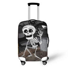 3D Ghost elements print travel luggage suitcase protective cover stretch waterproof portable luggage covers rain cover