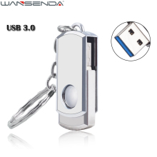 Fast Speed USB 3.0 Metal Swivel USB Flash Drive Pen Drive 4GB 8GB 16GB 32GB 64GB Real Capacity Pendrive USB Stick With Key Ring
