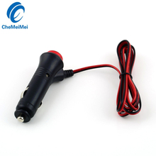 CheMeiMei Universal Auto Car Motorcycle Truck Cigarette Lighter Power Plug Adapter 12V 24V Male Lighter On Off Switch(China)