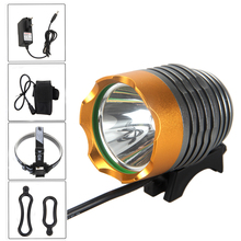 Bright 2500lm XM-T6 LED Bicycle Bike Light Torch Head Headlamp 4Pcs 18650 Battery Lamp Cycling LED Light