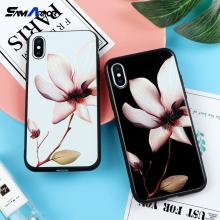 Chinese Lotus Flower Classic Case for iPhone X Phone Cases for iPhone 5 5S SE 6 6S 7 8 Plus Soft TPU Cover Coque Floral Funda(China)