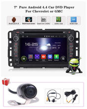 7'' Quad Core HD Android 4.4.4 Car DVD Player GPS Navigation Stereo Auto Radio DVD GPS Satnav For Chevrolet Impala/GMC/Saturn