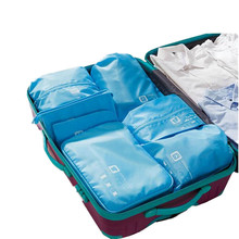 7pcs/set Practical Travel Bag Clothes Bra Underwear Shoes Cosmetic Packing Cube Storage Pouch Organizer luggage Accessories