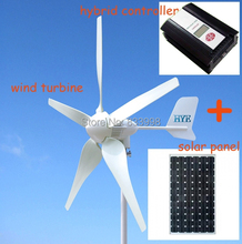 650W power system with 500W wind turbine generator and 150W solar panel and hybrid controller for home use