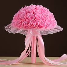 Wedding Bouquet 2017  New  Flowers   Top Quality   buque de noiva Beautiful Rose Bridesmaid Hand Flower Bridal Bouquets