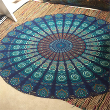 , New Summer Large Shawl Chiffon 150cm Beach Towels Bohemian Style Printed Round Beach Towel Circle Serviette