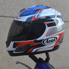 Arai blue and red special full face Arai helmet motorcycle helmet for free shipping,Capacete(China)