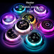 Heater Usb Charging Macarons Hand Warmer PTC ceramic heating Super Mini Ufo Electric Charging Treasure(China)