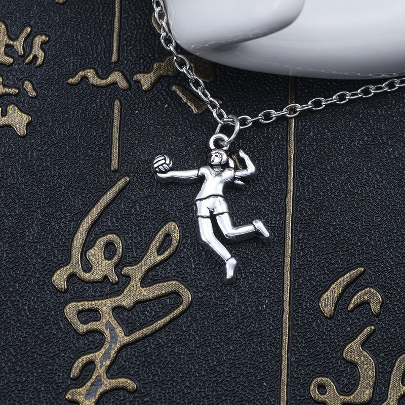 Trendy-Volleyball-Girl-Player-Pendant-Necklace-Women-Sports-Metal-Silver-Chain-Necklace-Fashion-Inspiring-Jewelry-Bijoux