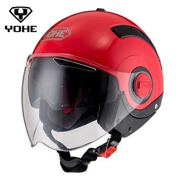 YOHE Moto Casque Mode Unisexe Casco Capacete Moto Casques ABS Moto Croix La Moitié Du Visage Casque Motocross Casque