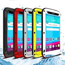 2016 New LOVE MEI Powerful Waterproof Dirtproof Dustproof Aluminum Metal case for LG G4 Free Shipping