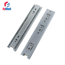 2pcs Drawer Slides 45mm Width 8''/10''/12''/14''/16''/18'' Cold-Rolled Steel Fold Telescopic Drawer Runner Ball Bearing Sliding(China)