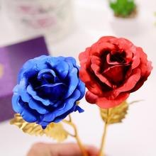 New Arrival 24K Gold-Plated Real Rose Unique Gift for Mothers Day/Mum/Anniversary/Girlfriends(China)
