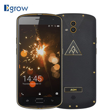 "Original AGM X1 IP68 Waterproof Phone 5.5"" Qualcom Octa Core 4GB RAM 64GB ROM 5400mAh Dual Camera OTG NFC Fingerprint Smartphone"